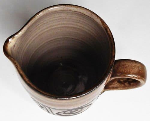 Vintage studio pottery milk jug Powgam Pottery half pint creamer